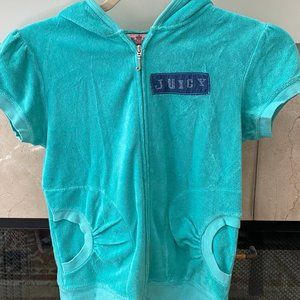 Juicy Couture Terrycloth Short Sleeve Hoodie